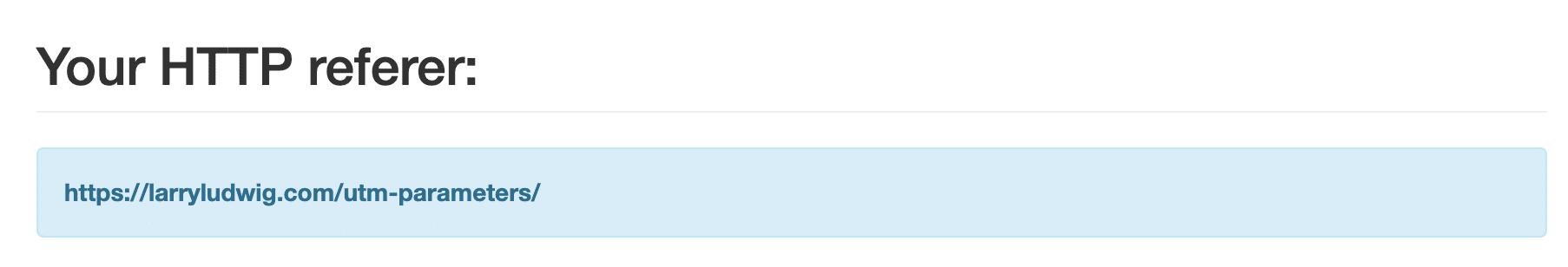 HTTP referer