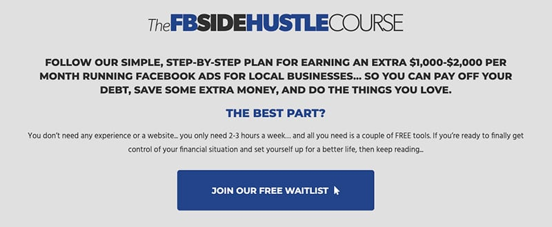 The Facebook Side Hustle Course - Digital Products