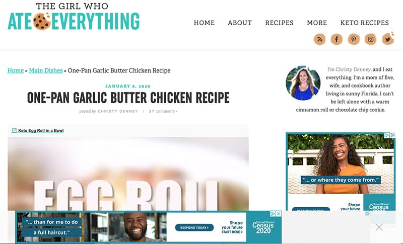 The Girl Who Ate Everything - Blog Advertisements